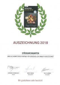 GenussGuide Auszeichnung 2018
